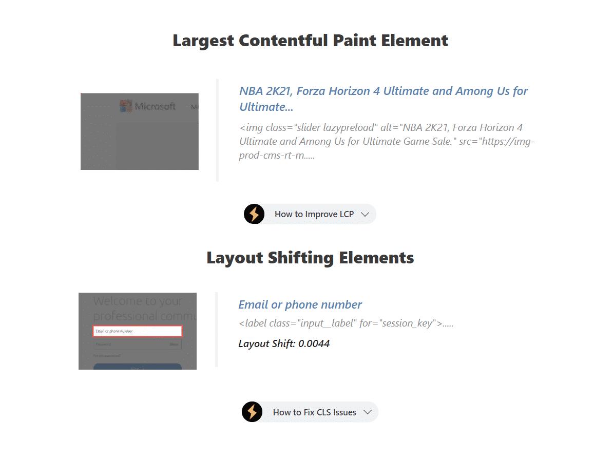 LCP CLS Elements