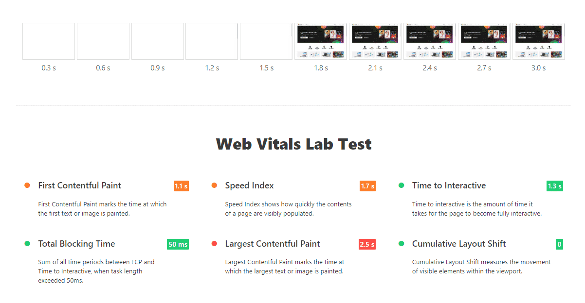 Loading Strip and Web Vitals Lab Report